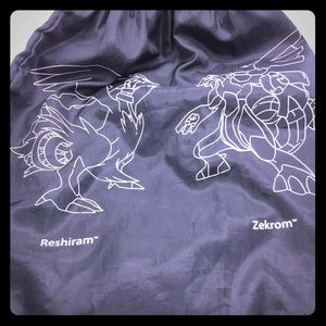 Pokémon Reshiram and Zekron drawstring  bag